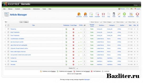 Создание сайта на платформе CMS Joomla (Видеообзор)