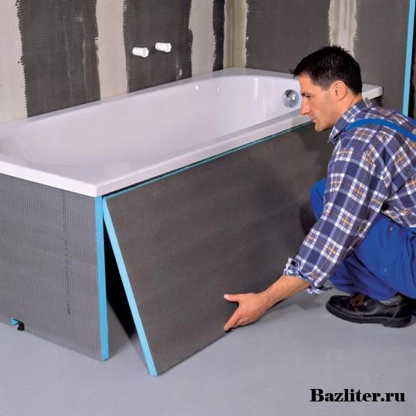 Изготовление и установка экрана под ванну своими руками. Особенности и виды материалов