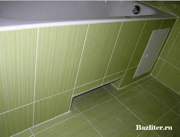 Изготовление кирпичного экрана для ванной своими руками
