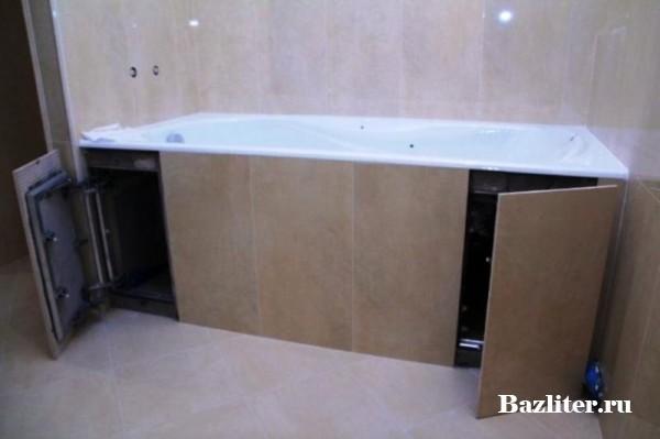 Изготовление экрана для ванны из гипсокартона своими руками