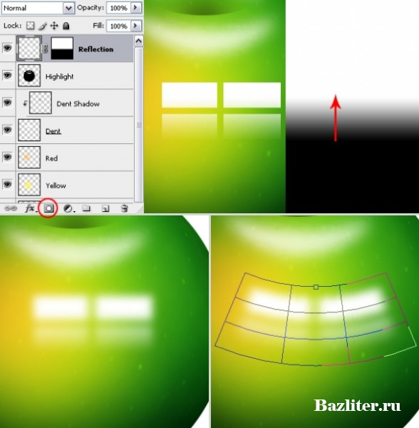 Введение в фотошоп (Photoshop) (Часть 29. Создание текстуры яблока)