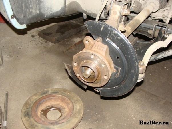 Замена ступицы заднего колеса рено логан