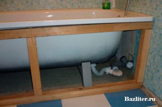 Под ванну сделать из пвх панелей своими руками 16