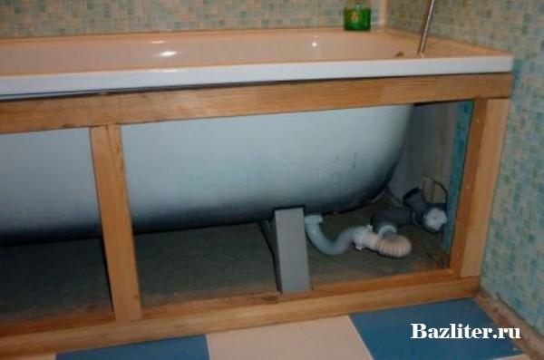 Изготовление экрана для ванны из пластиковых панелей своими руками