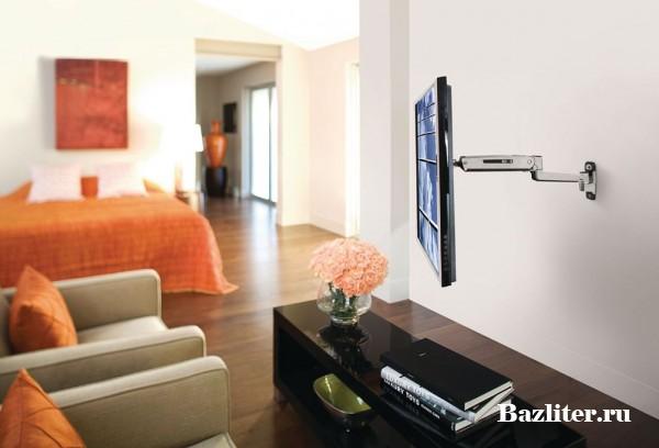 Типы кронштейнов для телевизора на стену