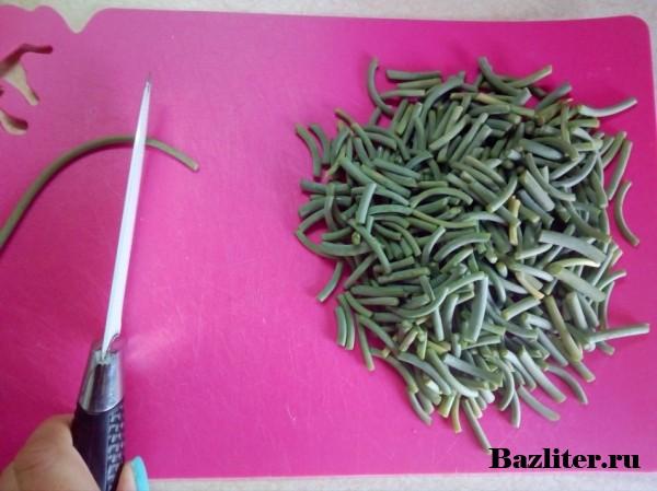 Как заморозить чесночные стрелки: способы заморозки