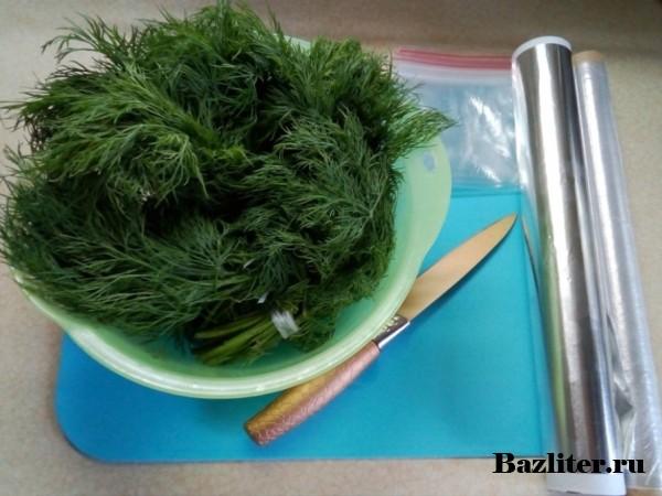 Как правильно заготовить укроп на зиму: способы заморозки