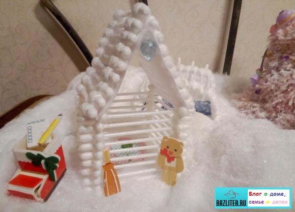 Как сделать поделку зимней композиции к Новому году и Рождеству. Пошаговая инструкция и советы