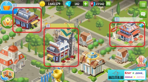 Моя кофейня: городские постройки в игре. Виды, стоимость, уровни и количество бесплатных заданий на фестивале