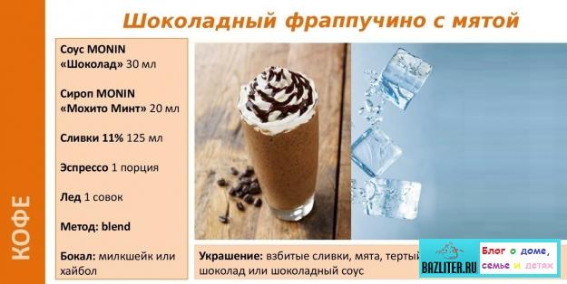 Кофе Фраппучино/Frappuccino: особенности, состав, свойства, виды, калорийность и рецепты