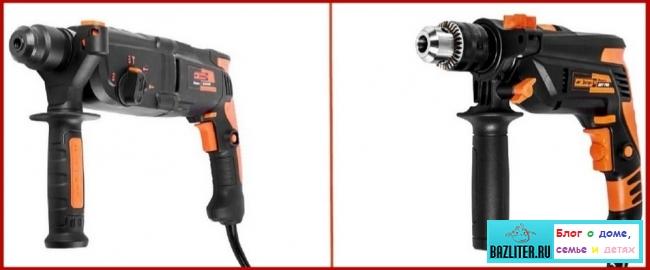 Что лучше покупать: ударную дрель или перфоратор? Отличительные особенности, функционал и критерии выбора