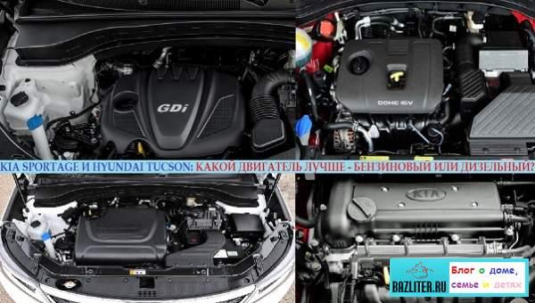 Kia Sportage/Hyundai Tucson - какой двигатель лучше: дизельный CRDI или бензиновые DOHC, GDI, T-GDI и MPI?