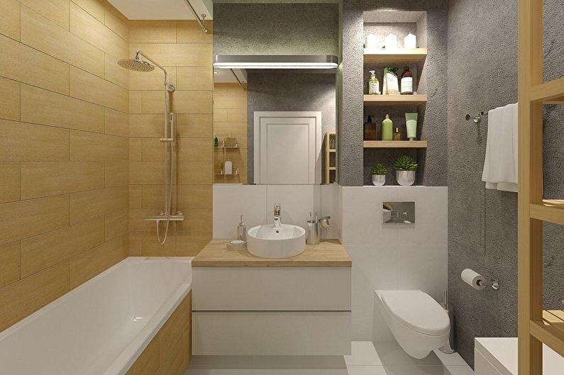 Как обустроить небольшую ванную комнату?