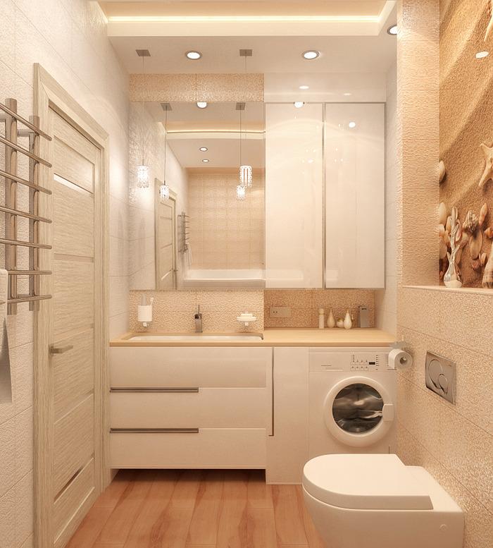 оборудование в маленькую ванную