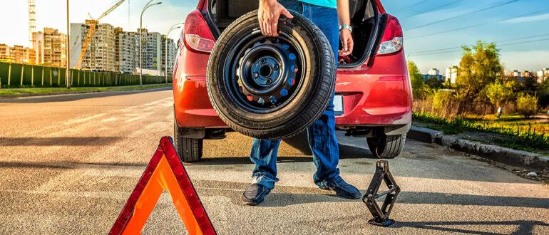 Что делать, если произошел прокол шины