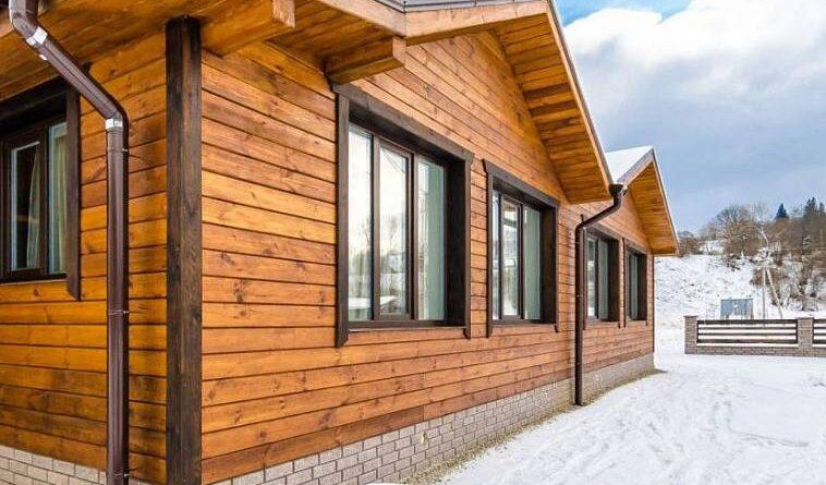 отделка фасада древесиной