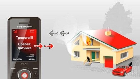 Преимущества сигнализации с GSM: