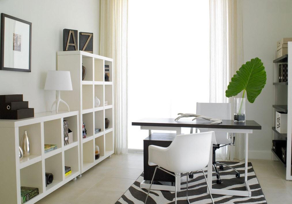 мебель в офисе дома