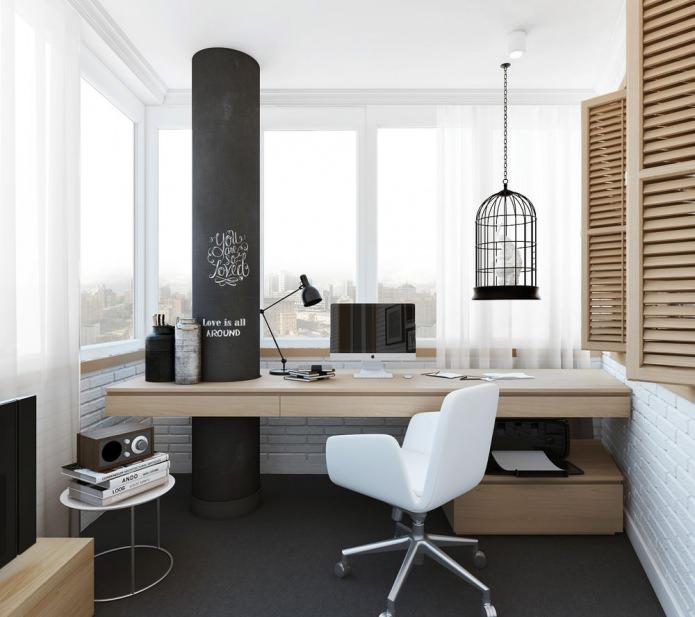 домашний офис в скандинавском стиле