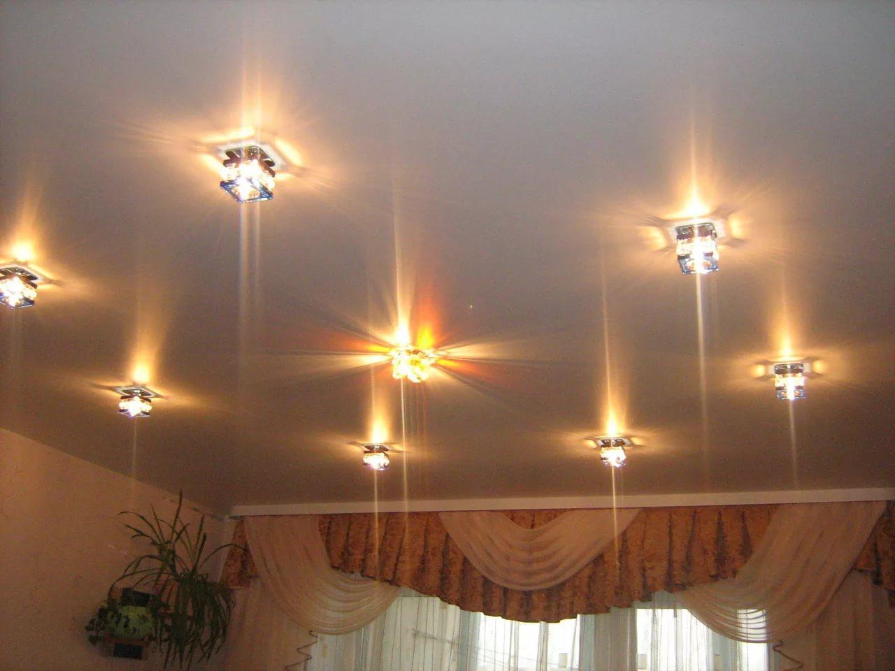 Светильники для натяжных потолков: виды, преимущества
