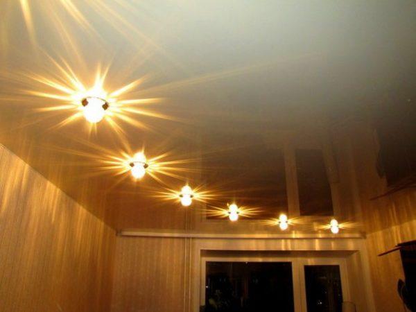 Преимущества точечного освещения