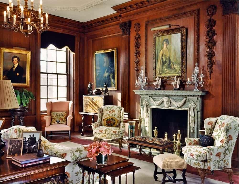 викторианский стиль интерьера
