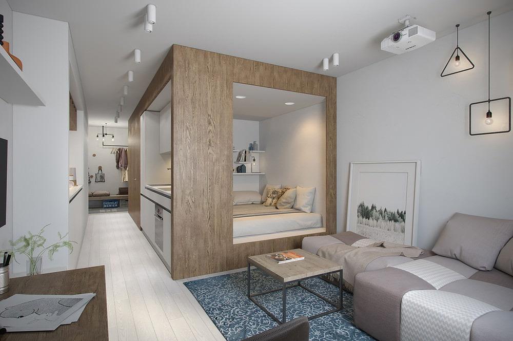 Обустройство маленькой квартиры в 4 шага